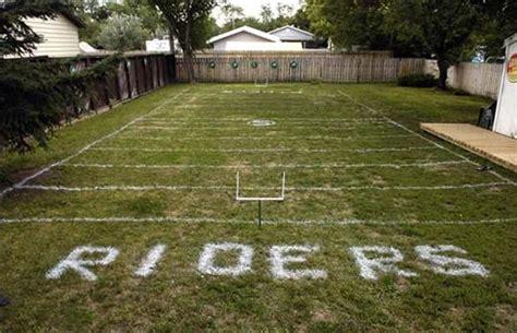 football field in backyard weyburn riders awesome fan made football fields complex