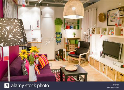 bedroom furniture shops uk a show bedroom at ikea furniture store england uk stock photo royalty free image