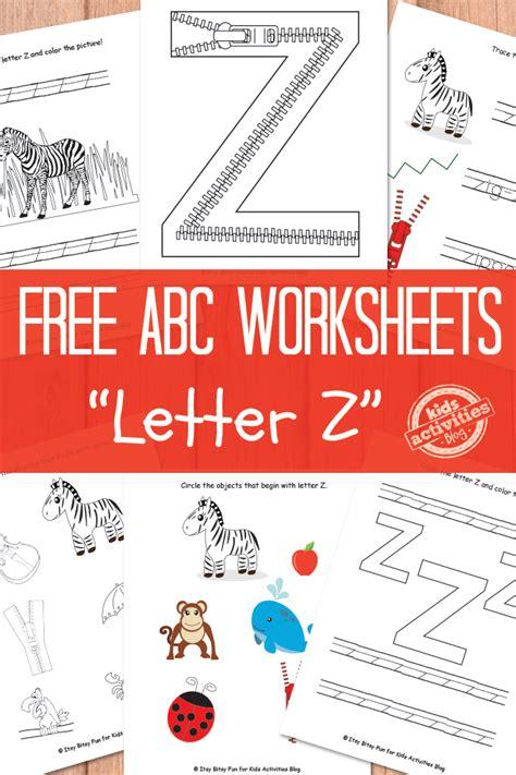 printable worksheets letter z letter z worksheets free kids printable
