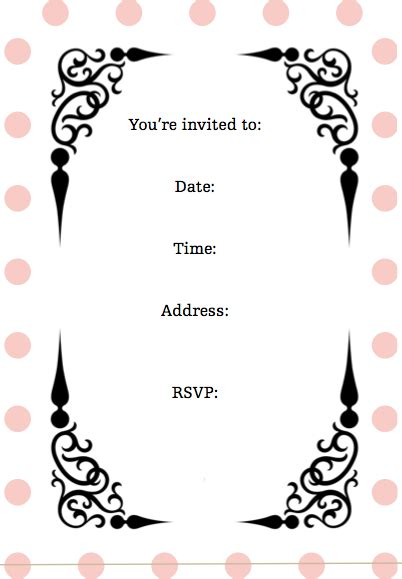 Pretty Party Invitations Girls Birthday Party Invitations Pretty Invitation Templates