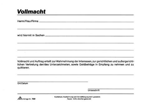 Kaufvertrag Motorrad Uniqa by Vollmacht Auskunft Vorlage Kostenlos Vorlagen