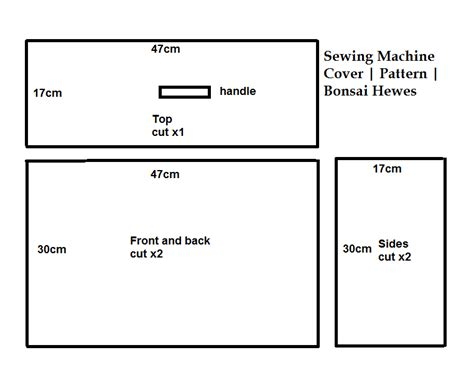 pattern for sewing machine cover sewing machine cover free pattern