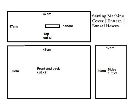 machine patterns free sewing machine cover free pattern