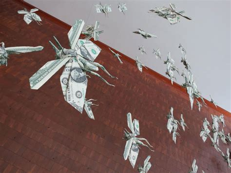 Flying Origami - flying money origami locusts sipho mabona arch2o