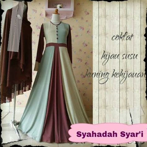Baju Dress Gamis Wanita Jumbo Pesta Syari Serena D Pink Sw Syahadah Syar I Outlet Nurhasanah Outlet Baju Pesta