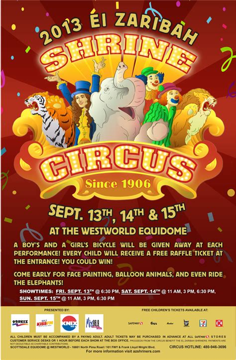 Cfc Gift Card Mesa Az - 2013 el zaribah shrine circus