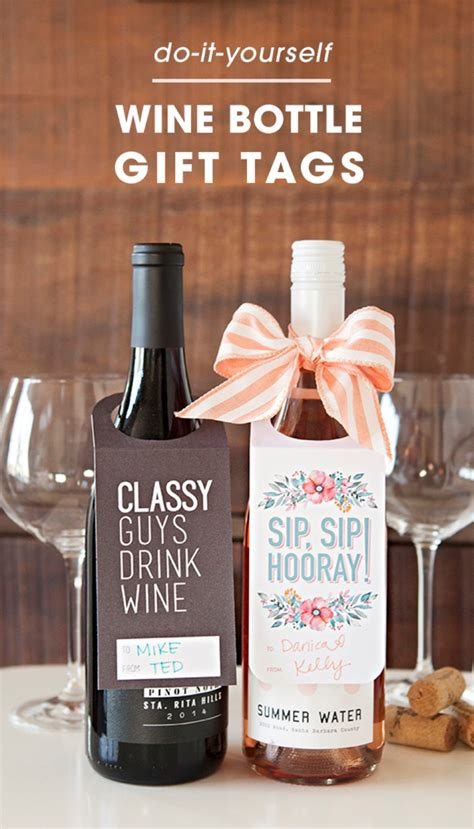 Printable Gift Tags For Wine Bottles | check out these free printable wine bottle gift tags