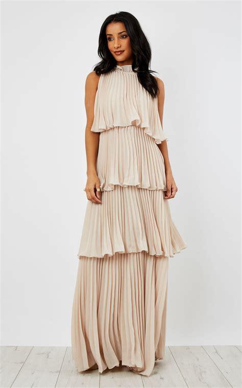 Layered Ruffle Dress layered ruffle sleeveless maxi dress silkfred