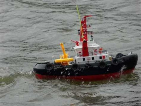 rc boats in big waves rc tugboat and big waves youtube