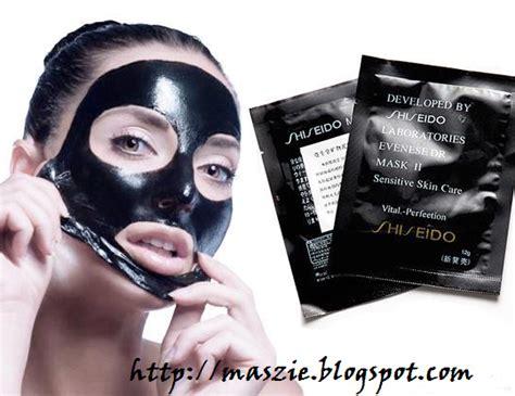 Masker Untuk Muka shiseido black white orange naturgo mask maszie