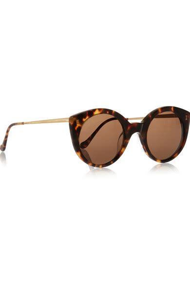 gestell 7 buchstaben illesteva palm sonnenbrille aus azetat mit rundem