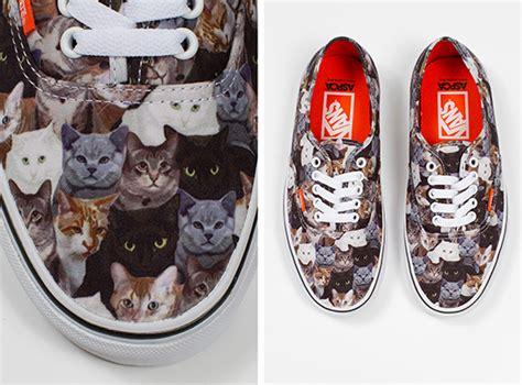 dog pattern vans vans cat sneakers support aspca hauspanther