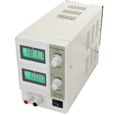bench psu 0 2a 0 18vdc adjustable dc regulated bench power supply