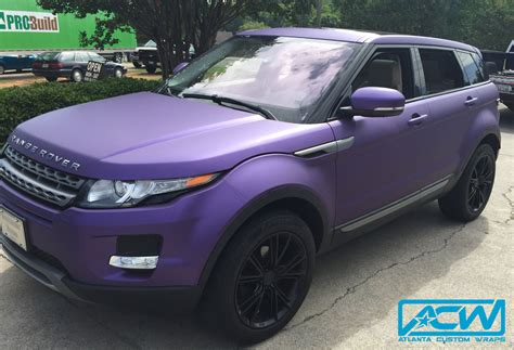 range rover purple 2013 range rover evoque atlanta custom wraps
