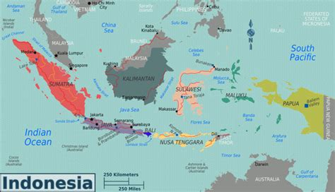 Indonesia Travel Map   Indonesia Travel Guide