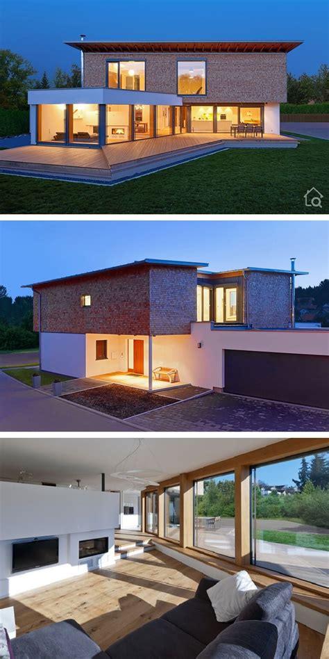 luxurioese fertighaus villa modern mit garage pultdach