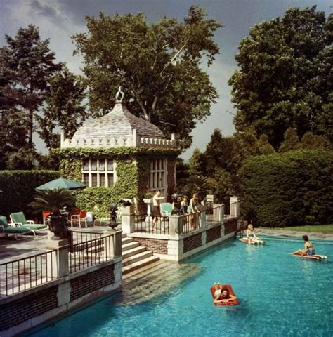 house pool party family pool mrs a watson armour iii jean schweppe with