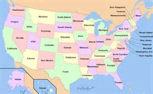 united states of america map with states and capitals american pronunciation lesson u s states and
