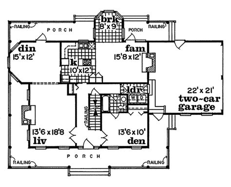 old farmhouse floor plans cornfeld traditional farmhouse plan 062d 0042 house