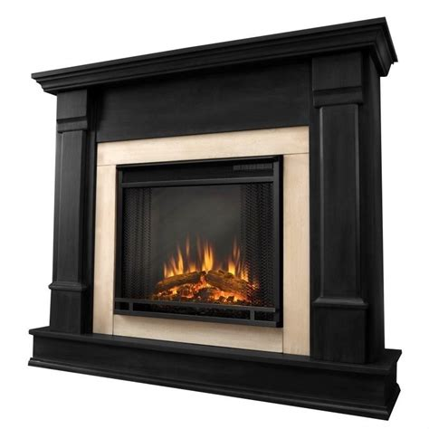 Indoor Fireplaces Electric by Real Silverton Indoor Electric Fireplace In Black