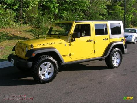jeep wrangler yellow for sale yellow jeep wrangler unlimited rubicon for sale
