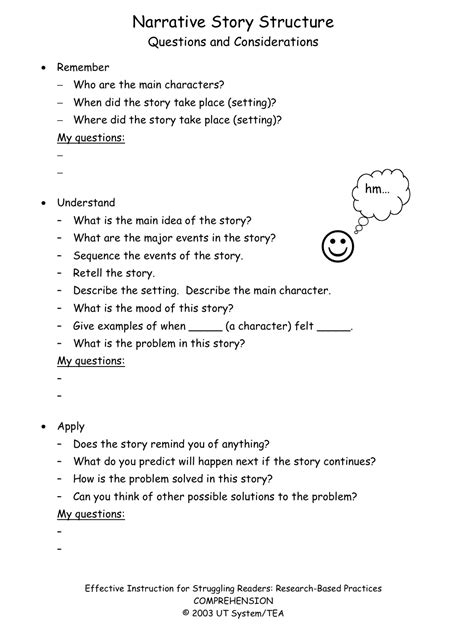 reading comprehension test in spanish comprehension expository text questions building rti