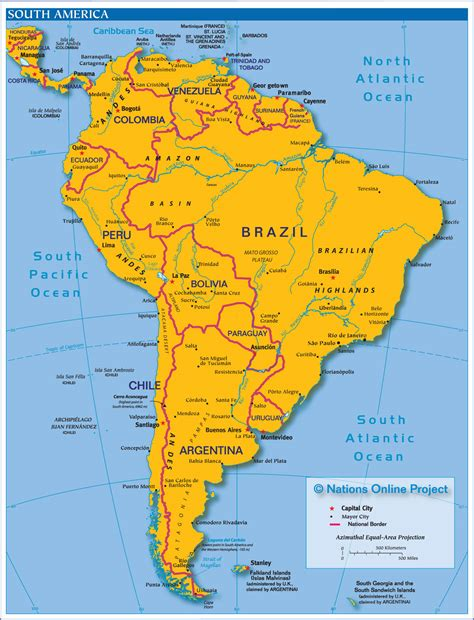south map america map map pictures