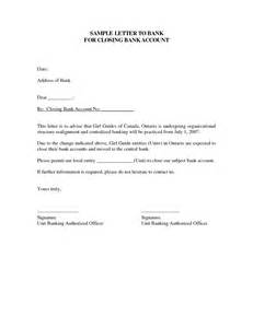 Bank Letter Of Notification Bank Account Closure Letter