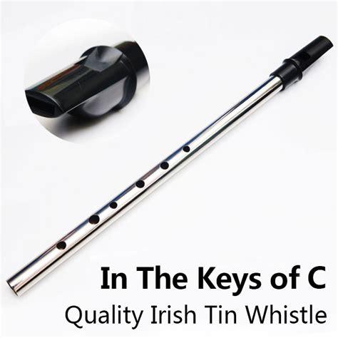 tin whistle aliexpress buy c key tin whistle metal flute
