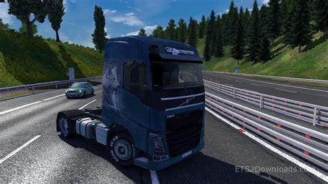 volvo white trucks for white wolf skin for volvo euro truck simulator 2 mods