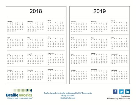 Columbia Mba Academic Calendar 2017 by Braille Calendars Attractive And Accessible Braille Works