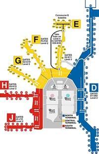 Miami Terminal Map by Miami International Airport