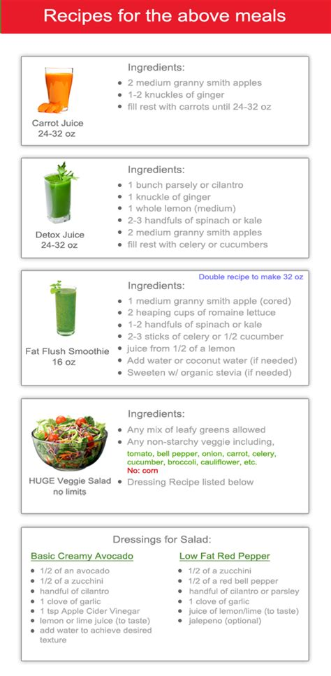 7 Day Detox Food Plan by My Exclusive 7 Day Detox Cleanse And Lose Weight