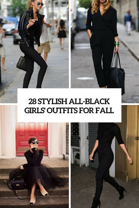 25 all black fall outfits that are anything but basic 28 stylish all black girls outfits for fall styleoholic