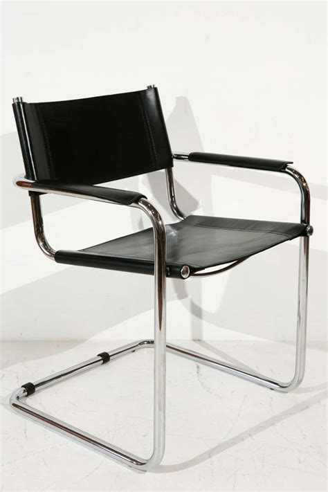 Cantilever Dining Chairs Set Of Six Steel Cantilever Dining Chairs In The Style Of Mart Stam At 1stdibs