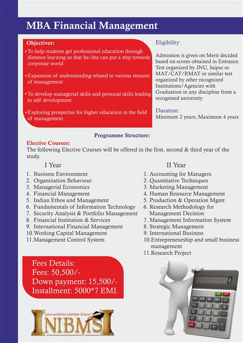 Mba Finance Executive Program by Welcome To N I B M S