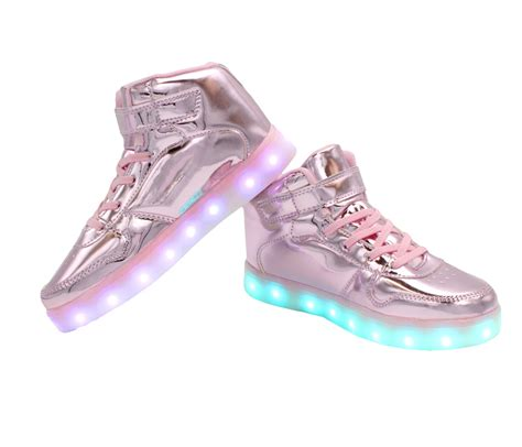 womens light up sandals galaxy led shoes light up usb charging high top women s