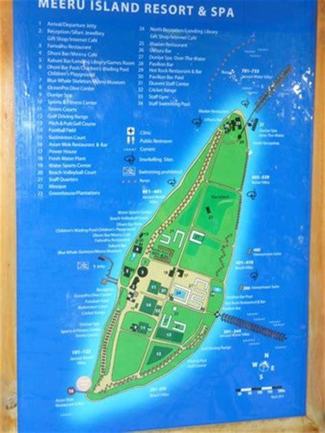 island resort map map of island picture of meeru island resort spa