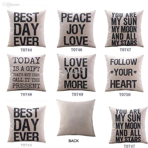 pillows with words wholesale home decor cotton linen decorative throw pillow