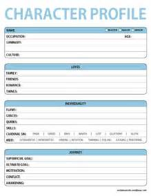 character profile template drama character profile worksheets lara willard