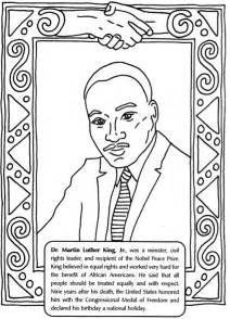 Mlk Day Coloring Pages martin luther king jr day activity for le top
