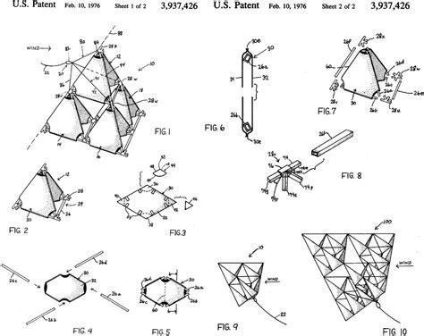 tetrahedron kite template pearce s tetrahedron kite us3937426