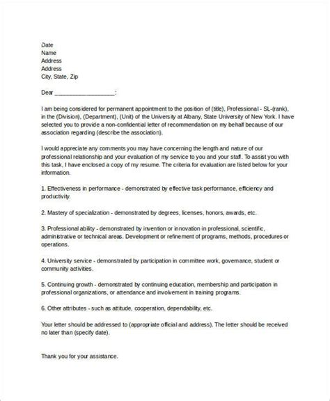 Employment Letter Recommendation Sle Recommendation Letters For Employment 12