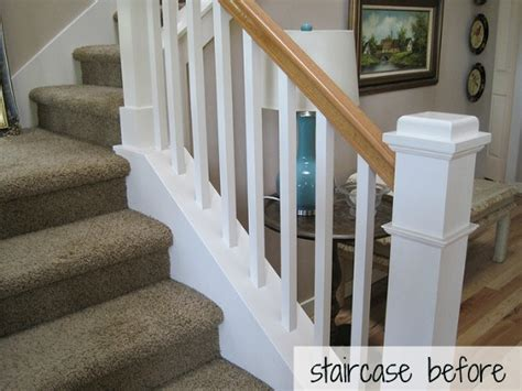 oak banister makeover hickory hardwood flooring and staircase makeover