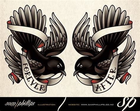 sam phillips tattoo designs sams willie wagtail tattoos