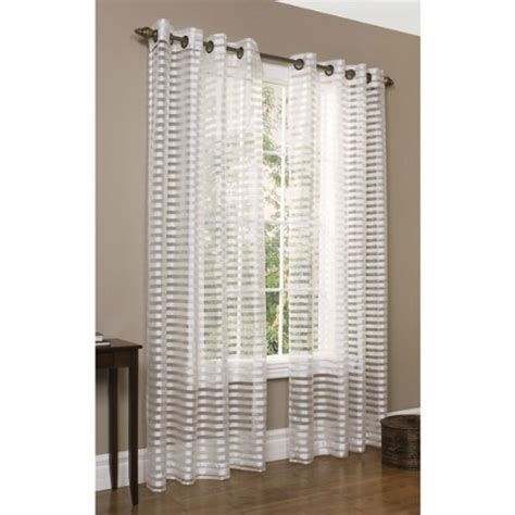 horizontal curtains best commonwealth home fashions sheer horizontal stripe