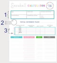 Credit Card Snowball Template Paying Debt Worksheets