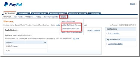How To Find Info On How To Update Credit Card Info Cobra S Market View
