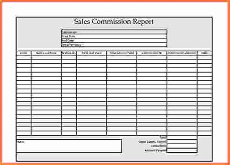 Commission Sheet Template by Sales Report Template Sales Commission Report Template Jpg