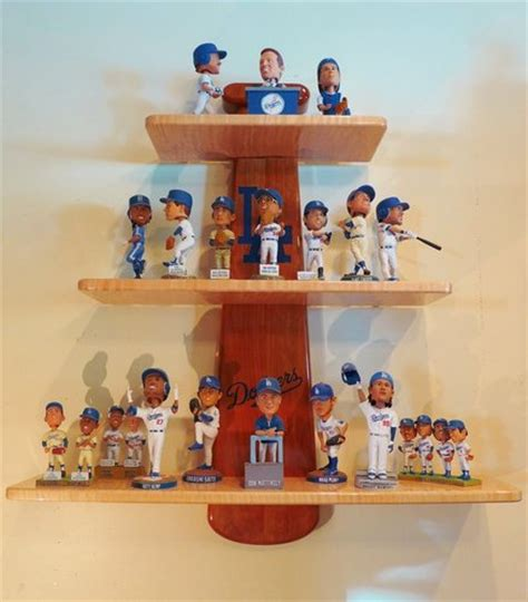 bobblehead shelf dodgers bobblehead bat shelf with epoxy inlay by